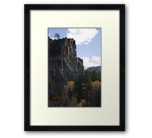 Battleship Rock Framed Print