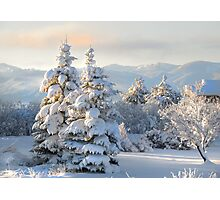 First Light on Last Night's Snow Photographic Print