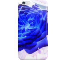 Electric Blue Rose iPhone Case/Skin