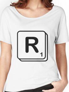 R scrabble print Women's Relaxed Fit T-Shirt