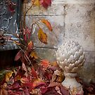 Fall in a French Courtyard by Leslie Nicole