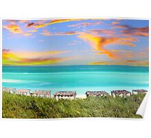 Postcard from Varadero Beach, Cuba Poster