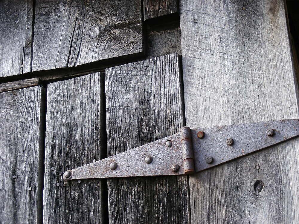 Rusty Barn Hinge by KennethWright