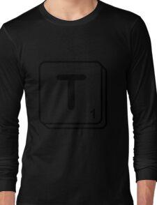 T scrabble print Long Sleeve T-Shirt