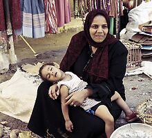 Baladi Woman and Child - Luxor, Egypt by Anne Kingston