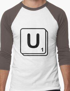 U scrabble print Men's Baseball ¾ T-Shirt