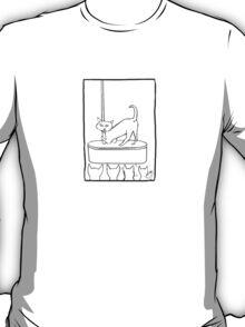 Cat Stripper Fun T Shirt T-Shirt