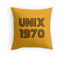 Unix 1970 Throw Pillow