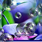 Blue Flower   Bubbles by maf01