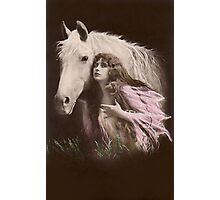 Vintage Beauty and  Her Horse Photographic Print