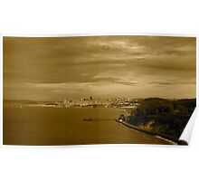 San Francisco seen from the Golden Gate Bridge Poster