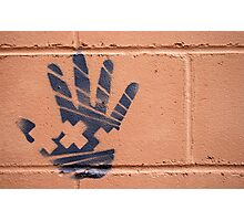 just a handprint Photographic Print