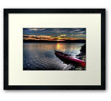 Rest - Narrabeen Lakes , Sydney - The HDR Experience Framed Print
