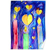 Candles....and Hearts.....and Hope Poster