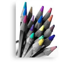 Coloured tips Canvas Print