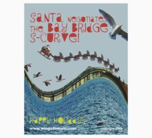 Santa Negotiates the Bay Bridge S-Curve! One Piece - Short Sleeve