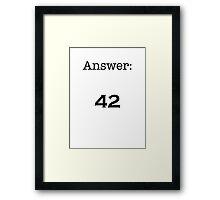 42 Framed Print