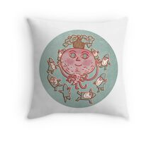 Radish & Gnomes Throw Pillow