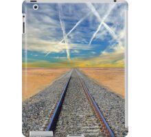 Railroad tracks in Mojave Desert California iPad Case/Skin
