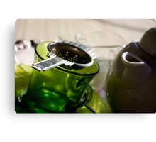 Green Tea for One Canvas Print