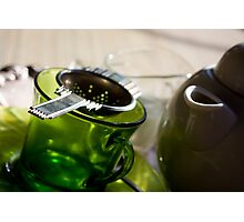 Green Tea for One Photographic Print