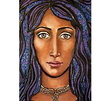 Iris - mixed media on canvas (detail)  Photographic Print