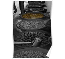selective colouring - olive Poster