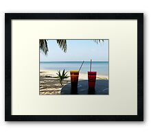 Typical Tropical   Central America Framed Print