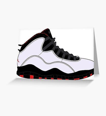 "Air Jordan X (10) ""Chicago"" Greeting Card"