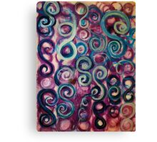 Playful Purple Swirl Canvas Print