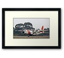 Coast Guard Foggy Takeoff Framed Print