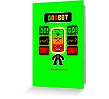 GARBOT Green Background Greeting Card