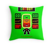 GARBOT Green Background Throw Pillow