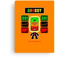 GARBOT Amber Background Canvas Print