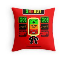 GARBOT Red Background Throw Pillow
