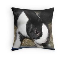Black and White Rabbit Throw Pillow