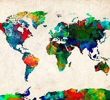 World Map watercolor by BekimART