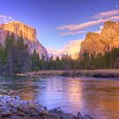 Yosemite Valley at Sunset by Justin Baer