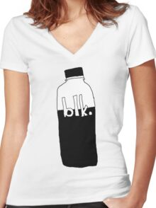 blk. water Women's Fitted V-Neck T-Shirt