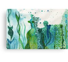 ocean water colour and ink Canvas Print