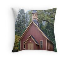 """Old Village Chapel"" Throw Pillow"