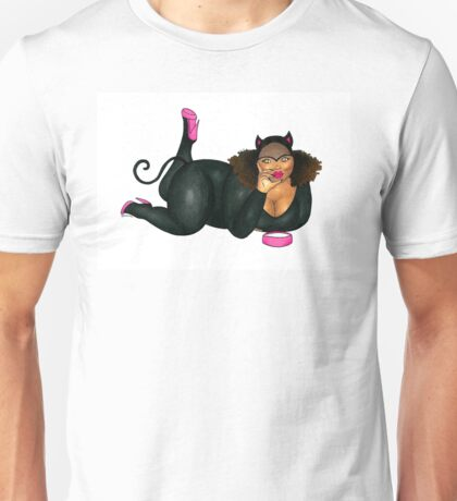 The Cat who got Too Much Cream Unisex T-Shirt