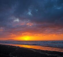 Serendipitous Stormy Sunset by TomRaven