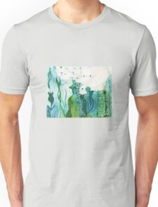ocean water colour and ink Unisex T-Shirt