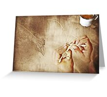 Weaving Hands Greeting Card
