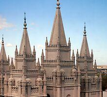 Salt Lake Temple - Blue Skies by Ryan Houston