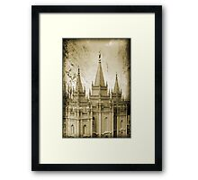 Salt Lake LDS Temple Framed Print