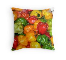 Perfect Peppers...Central America Throw Pillow