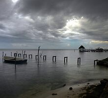 Waiting to Row...Caye Caulker, Belize by graeme edwards
