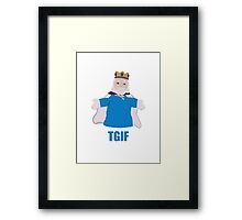 TGIKF - Thank God it's King Friday Framed Print
